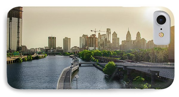 IPhone Case featuring the photograph Schuylkill River Walk At Sunrise by Bill Cannon