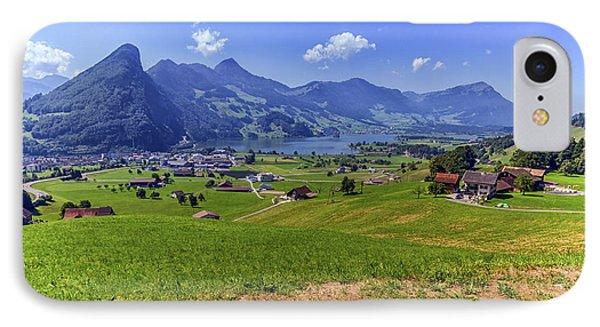 Schwyz And Zurich Canton View, Switzerland IPhone Case