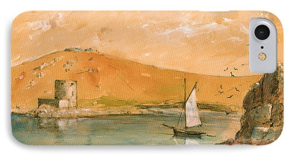 Scilly Islands Watercolor Painting IPhone Case