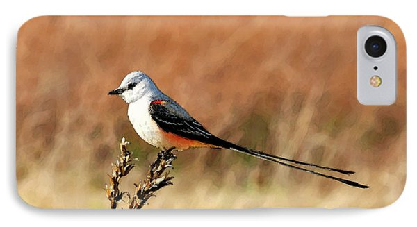Scissor-tailed Flycatcher IPhone Case by Betty LaRue