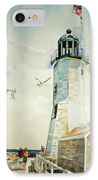 Scituate Light IPhone Case by P Anthony Visco