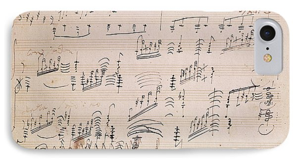 Score Sheet Of Moonlight Sonata Phone Case by Ludwig van Beethoven