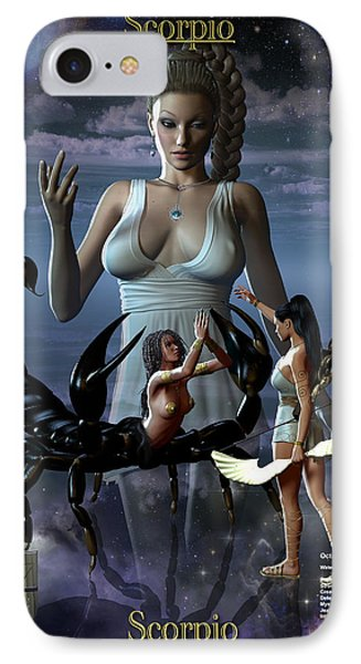 Scorpio Phone Case by Joseph Soiza