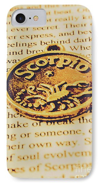 Scorpio Star Sign Token IPhone Case by Jorgo Photography - Wall Art Gallery