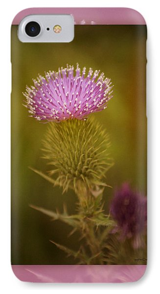 Scotch Thistle Phone Case by Holly Kempe