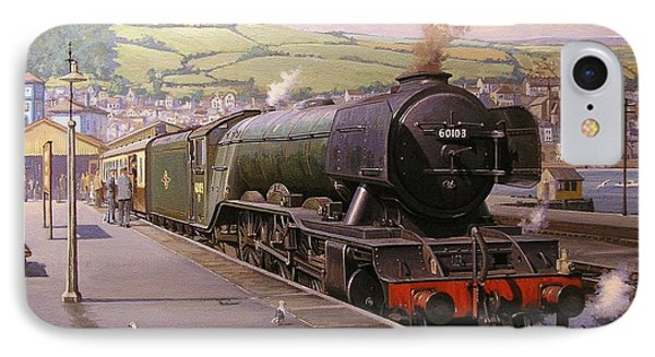 Scotsman At Kingswear IPhone Case by Mike  Jeffries