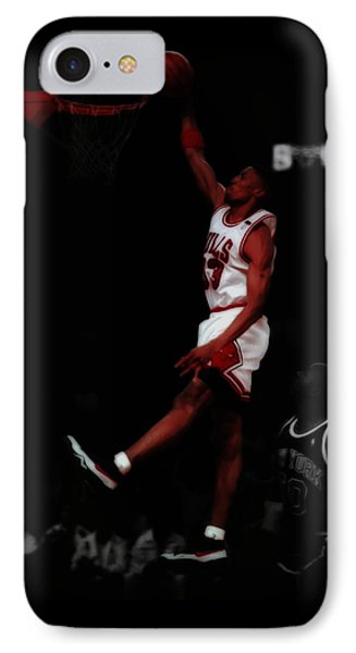 Scottie Pippen Above The Rim IPhone Case by Brian Reaves