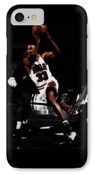 Scottie Pippen On The Move IPhone Case by Brian Reaves