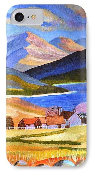 IPhone Case featuring the painting Scottish Highlands 2 by Magdalena Frohnsdorff