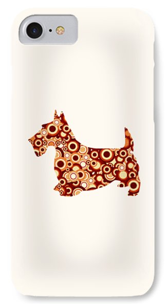 Scottish Terrier - Animal Art IPhone Case