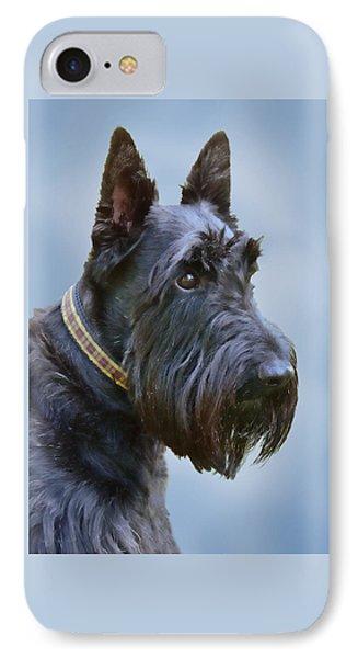 Scottish Terrier Dog Phone Case by Jennie Marie Schell
