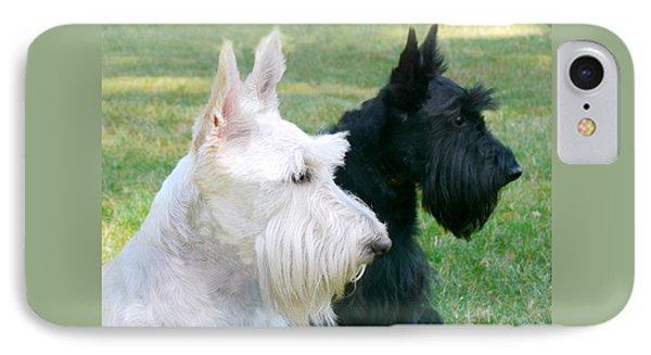 Scottish Terrier Dogs IPhone Case by Jennie Marie Schell
