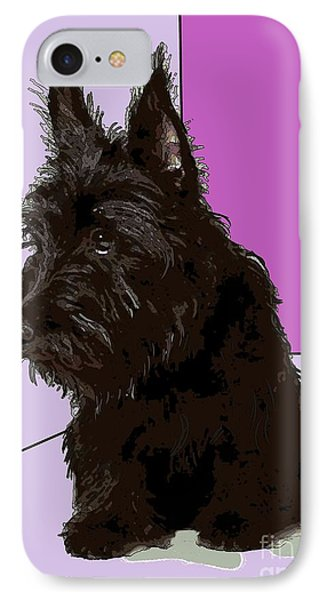 Scottish Terrier IPhone Case by George Pedro