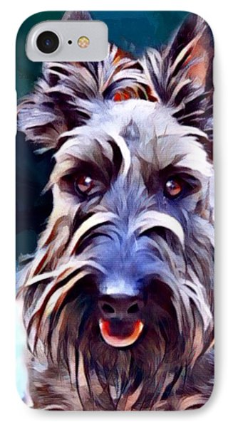 Scottish Terrier Painting IPhone Case by Scott Wallace