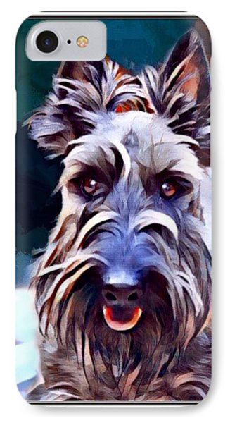Scottish Terrier Print IPhone Case by Scott Wallace