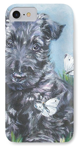 Scottish Terrier With Butterflies IPhone Case