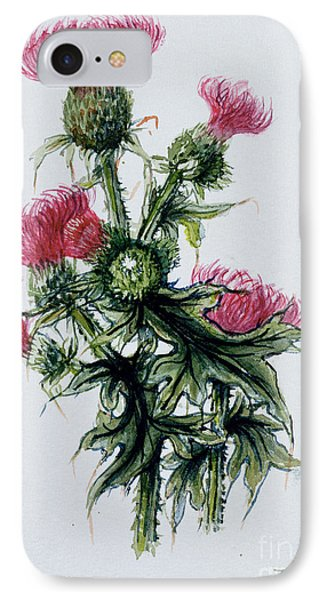 Scottish Thistle IPhone Case by Nell Hill