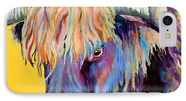 Cow iPhone 7 Case - Scotty by Pat Saunders-White