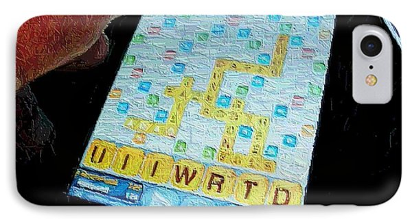 Scrabble IPhone Case by Ron Bissett