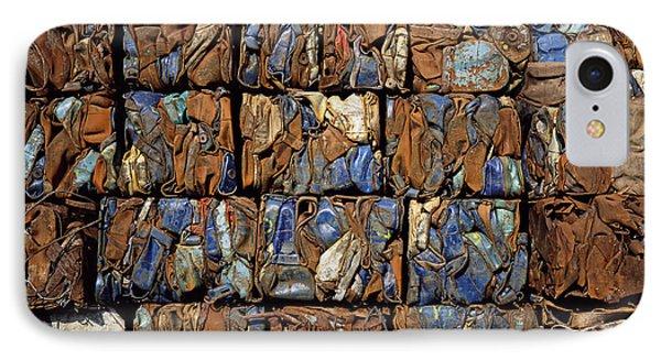 Scrap Metal Bales Phone Case by Dirk Wiersma