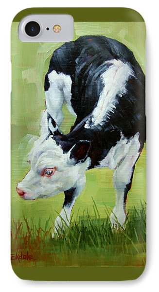 Scratching Calf IPhone Case by Margaret Stockdale