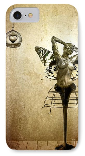 Scream Of A Butterfly IPhone Case by Jacky Gerritsen