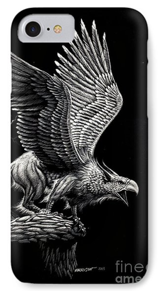 Griffon iPhone 7 Case - Screaming Griffon by Stanley Morrison