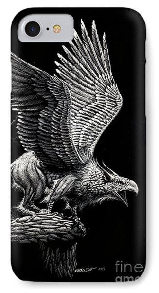 Screaming Griffon IPhone Case by Stanley Morrison