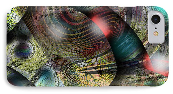 Screaming Spirals IPhone Case by Yul Olaivar