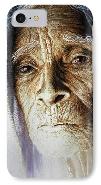 IPhone Case featuring the painting Scripts Of Ancestral Light  by J- J- Espinoza