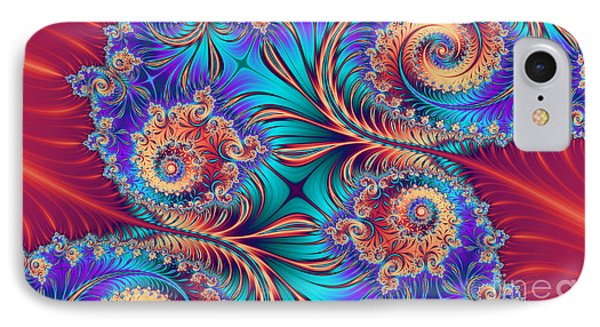 Scrolls And Whirls IPhone Case by John Edwards