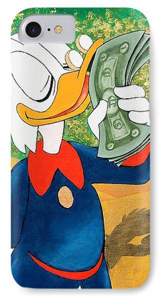 Scrooge Mcduck Kissing Money IPhone Case