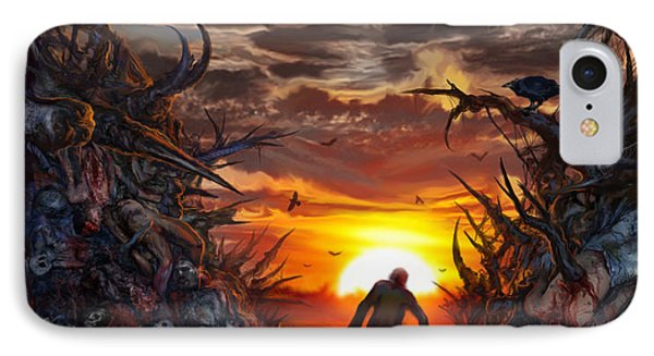 Sculpted In Sufferance IPhone Case by Tony Koehl