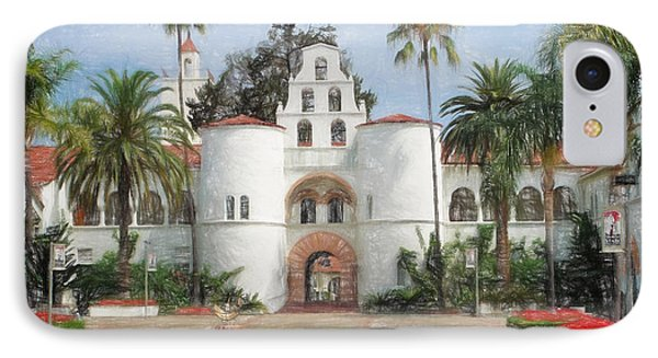 Sdsu Drawing IPhone Case by Nancy Ingersoll