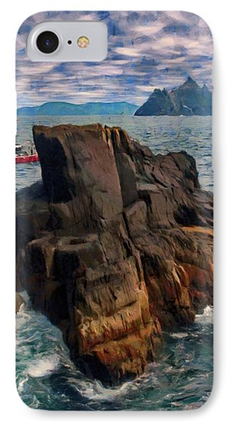 IPhone Case featuring the painting Sea And Stone by Jeff Kolker