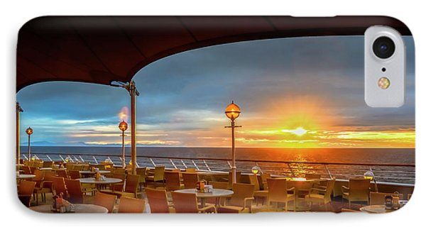 IPhone Case featuring the photograph Sea Cruise Sunrise by John Poon