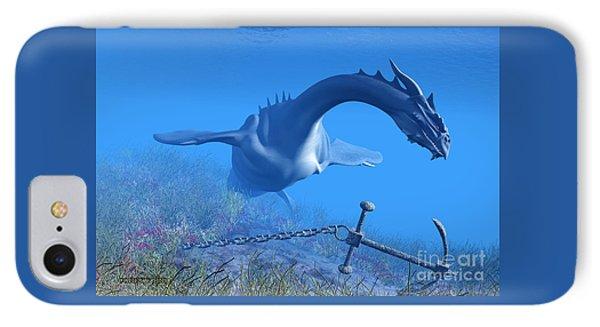 Sea Dragon And Anchor IPhone Case