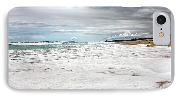 IPhone Case featuring the photograph Sea Foam And Clouds By Kaye Menner by Kaye Menner