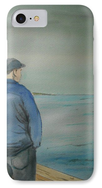 IPhone Case featuring the painting Sea Gaze by Anthony Ross