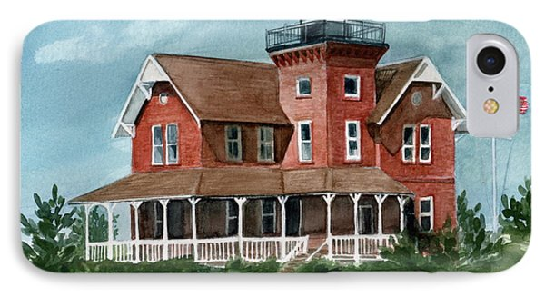 IPhone Case featuring the painting Sea Girt Lighthouse by Nancy Patterson
