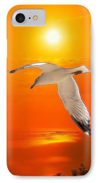 Sea Gull IPhone Case by Athala Carole Bruckner