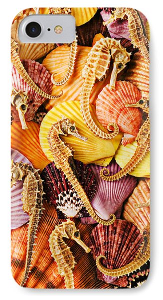 Sea Horses And Sea Shells IPhone 7 Case by Garry Gay