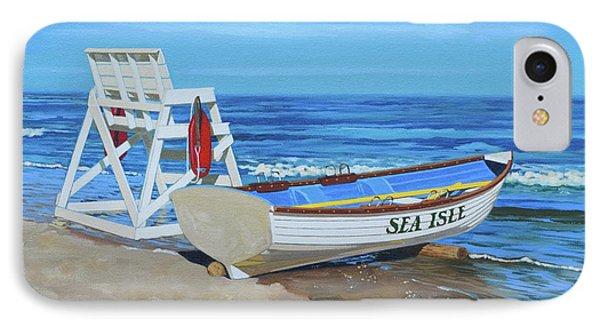 Sea Isle Beach Patrol IPhone Case by Elisabeth Olver