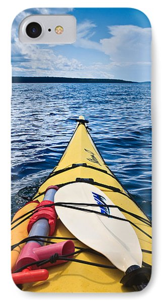 Sea Kayaking IPhone Case by Steve Gadomski