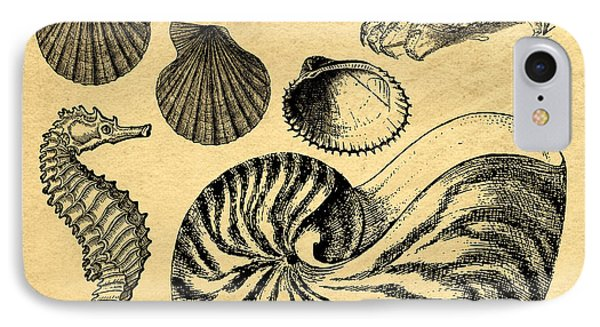 IPhone Case featuring the drawing Sea Life Vintage Illustrations by Edward Fielding