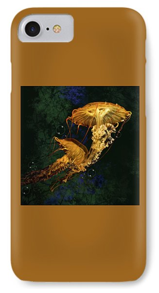 IPhone Case featuring the digital art Sea Nettle Jellies by Thanh Thuy Nguyen