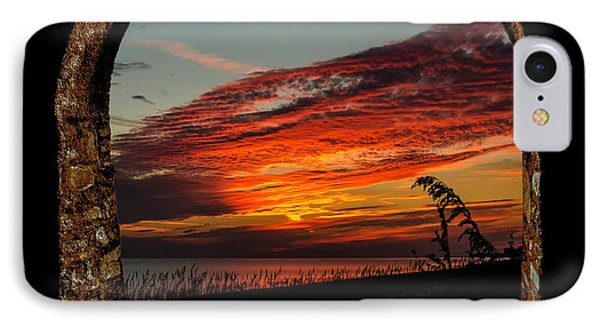 Sea Oats And Sunset IPhone Case