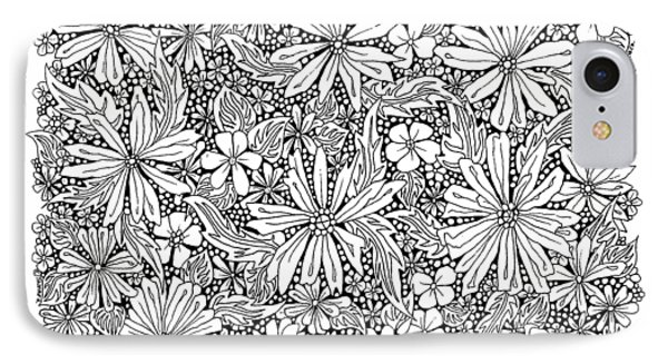 Sea Of Flowers And Seeds At Night Horizontal IPhone Case by Tamara Kulish