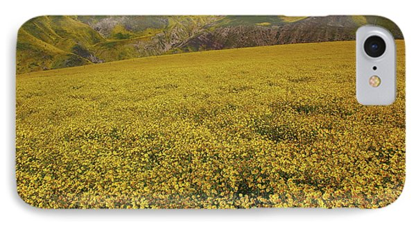 IPhone Case featuring the photograph Sea Of Yellow Up In The Temblor Range At Carrizo Plain National Monument by Jetson Nguyen