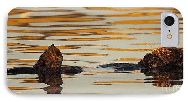 Sea Otter Laying Low In The Water IPhone Case by Max Allen
